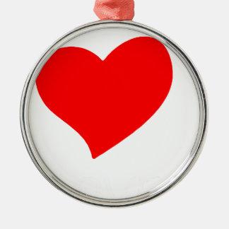 Ornement Rond Argenté paix love37