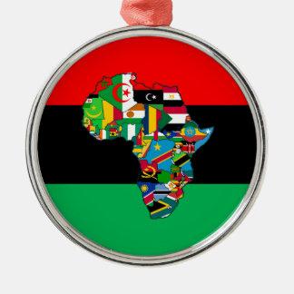 Ornement Rond Argenté Panafricain je suis plus que la conception de