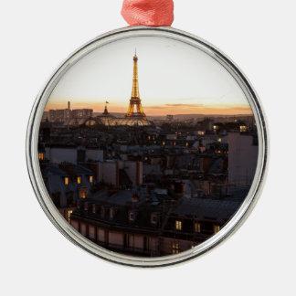 Ornement Rond Argenté Paris