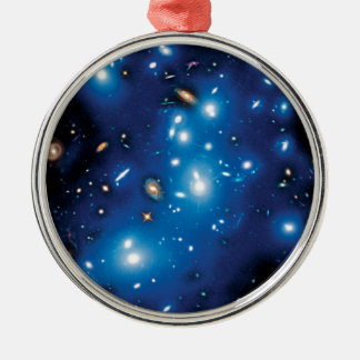 Ornement Rond Argenté Photo de l'espace de groupe de galaxie d'Abell