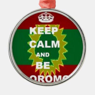 Ornement Rond Argenté Produits d'Oromo