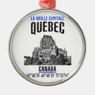 Ornement Rond Argenté Québec