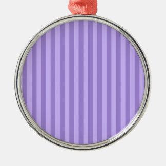 Ornement Rond Argenté Rayures minces - violettes et violet-clair