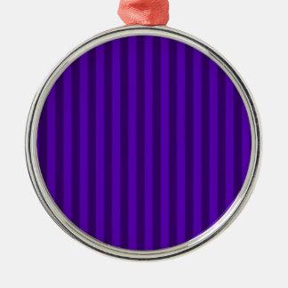 Ornement Rond Argenté Rayures minces - violettes et violette foncée