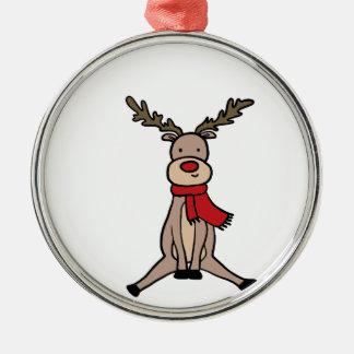 Ornement Rond Argenté RENNE MIGNON, Rudolph