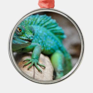 Ornement Rond Argenté reptile