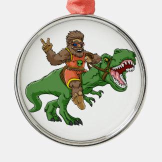 Ornement Rond Argenté rex Bigfoot de rex-T de la Bigfoot-bande dessinée