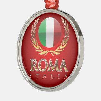Ornement Rond Argenté Rome