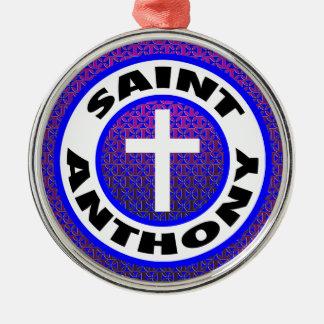 Ornement Rond Argenté Saint Anthony