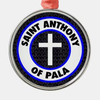 Ornement Rond Argenté Saint Anthony de Pala