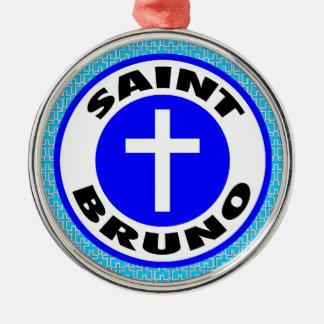 Ornement Rond Argenté Saint Bruno