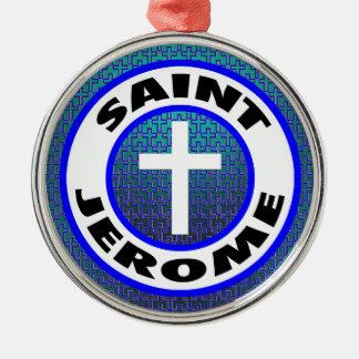 Ornement Rond Argenté Saint Jerome