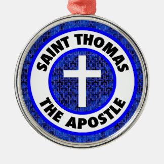 Ornement Rond Argenté Saint Thomas l'apôtre