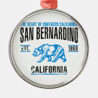 Ornement Rond Argenté San Bernardino