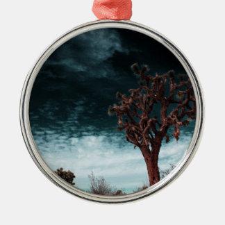 Ornement Rond Argenté Special d'arbre de Joshua