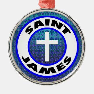 Ornement Rond Argenté St James