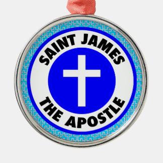 Ornement Rond Argenté St James l'apôtre