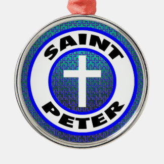 Ornement Rond Argenté St Peter