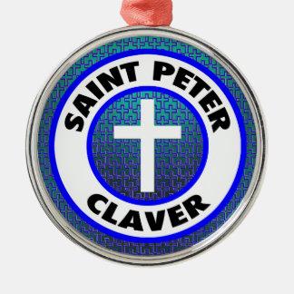 Ornement Rond Argenté St Peter Claver