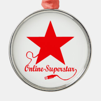 Ornement Rond Argenté Superstar en ligne