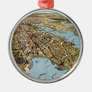 Ornement Rond Argenté Sydney 1888