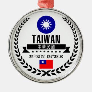 Ornement Rond Argenté Taïwan
