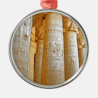 Ornement Rond Argenté Temple de Dendera