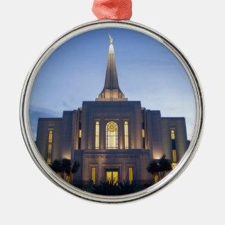 Ornement Rond Argenté Temple de GIlbert Arizona LDS