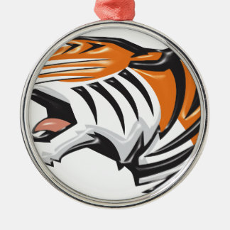 Ornement Rond Argenté tiger3