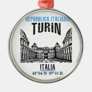 Ornement Rond Argenté Turin