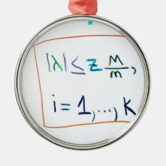 Ornement Rond Argenté Un hypercube dans l'espace de k