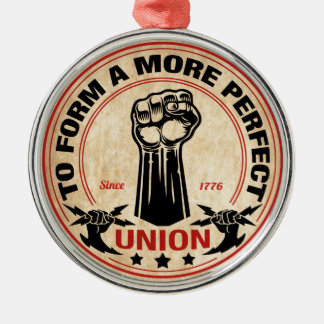 Ornement Rond Argenté Une union plus parfaite 1016