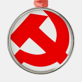 Ornement Rond Argenté Union Soviétique primitive CCCP de marteau et de