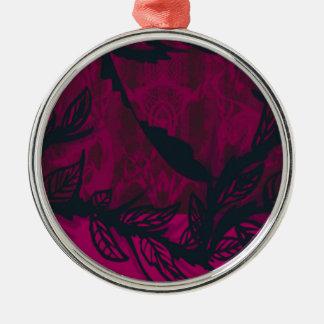 Ornement Rond Argenté violet