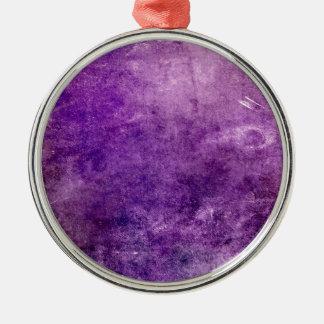 Ornement Rond Argenté Violette abstraite