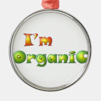 Ornement Rond Argenté Volenissa - je suis organique