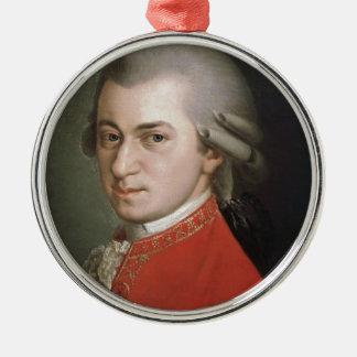 Ornement Rond Argenté Wolfgang Amadeus Mozart
