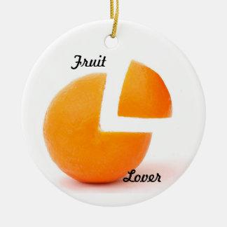 Ornement rond d'amant de fruit