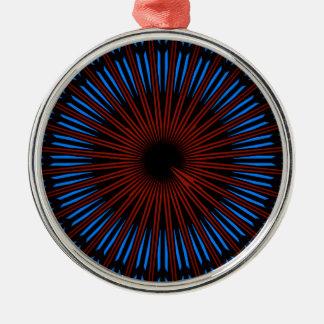 Ornement rond de la meilleure qualité bleu/rouge