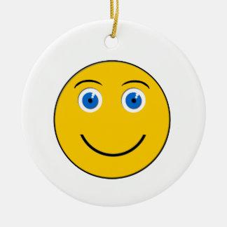 Ornement rond d'emoji de sourire