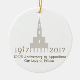Ornement Rond En Céramique 10ème Anniversaire des apparitions - Fatima