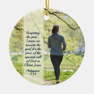 Ornement Rond En Céramique 3h13 de Philippiens - presse 14 vers appeler élevé