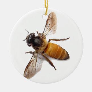 Ornement Rond En Céramique Abeille de miel