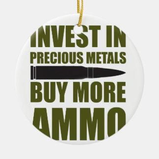 Ornement Rond En Céramique Achetez plus de munitions, les investissez en