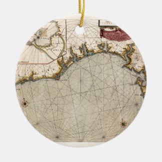 Ornement Rond En Céramique Algarve Portugal 1690