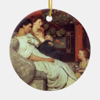 Ornement Rond En Céramique Alma-Tadema | une famille romaine, 1867