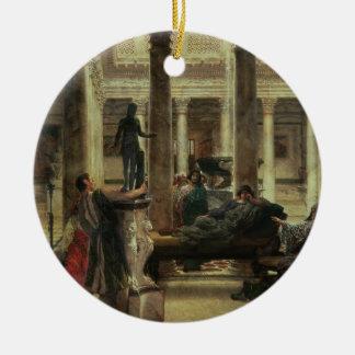 Ornement Rond En Céramique Amant d'art romain d'Alma-Tadema |, 1870