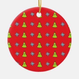 Ornement Rond En Céramique Amis mignons de Noël