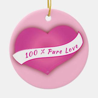 Ornement Rond En Céramique Amour pur de 100%
