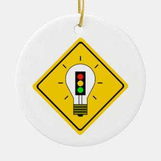 Ornement Rond En Céramique Ampoule de feu d'arrêt en avant